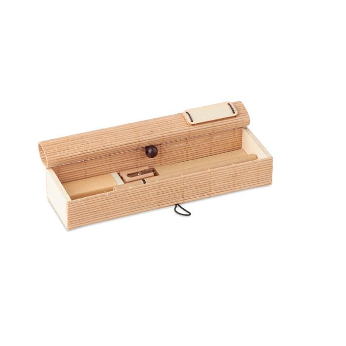 Set de escritorio en bambú CORTINA ETUI