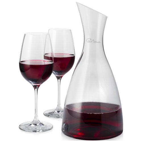 Decantador con 2 copas de vino