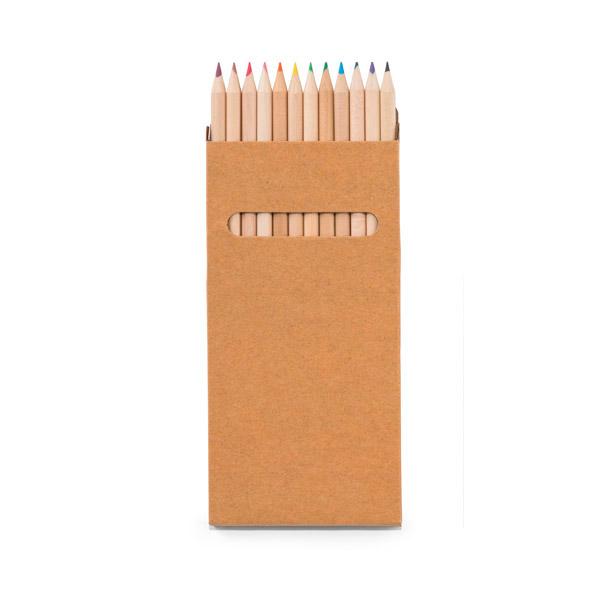 Caja con 12 lápices de color.