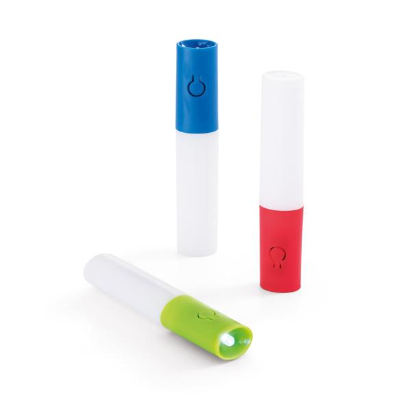 Linterna. ABS y AS. Con 2LEDs y 3 modos de luz