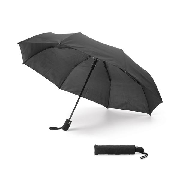 Paraguas plegable.Mango con acabado de goma