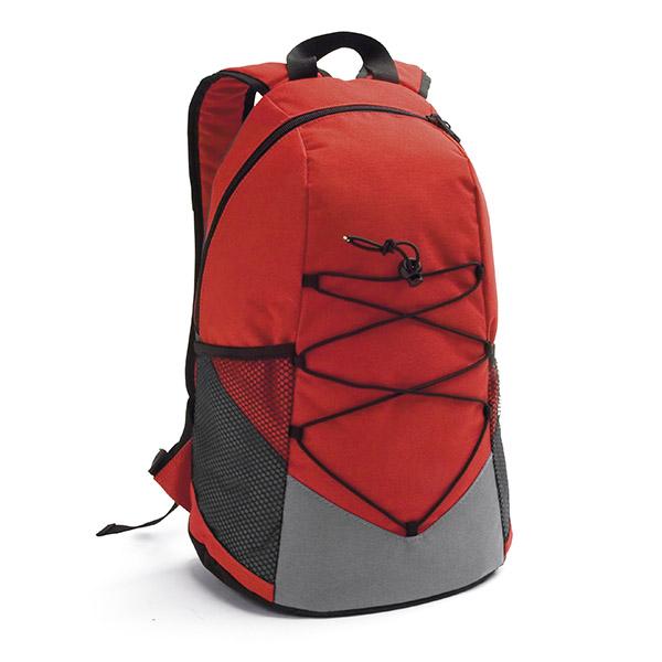 Mochila. 600D. Bolsillos laterales en red y bolsillo interior