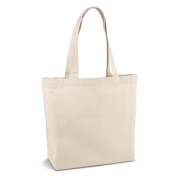 Bolsa. 100& lona de algodón: 280 g/m². Con bolsillo interior y asas de 65 cm.