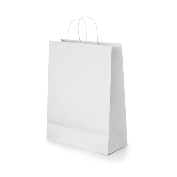 Bolsa. Papel craft: 90 g/m². Asa papel torcido. 180 x 240 x 80 mm