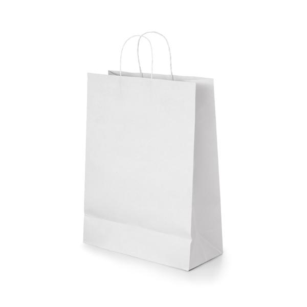 Bolsa. Papel craft: 100 g/m². Asa papel torcido. 320 x 390 x 110 mm