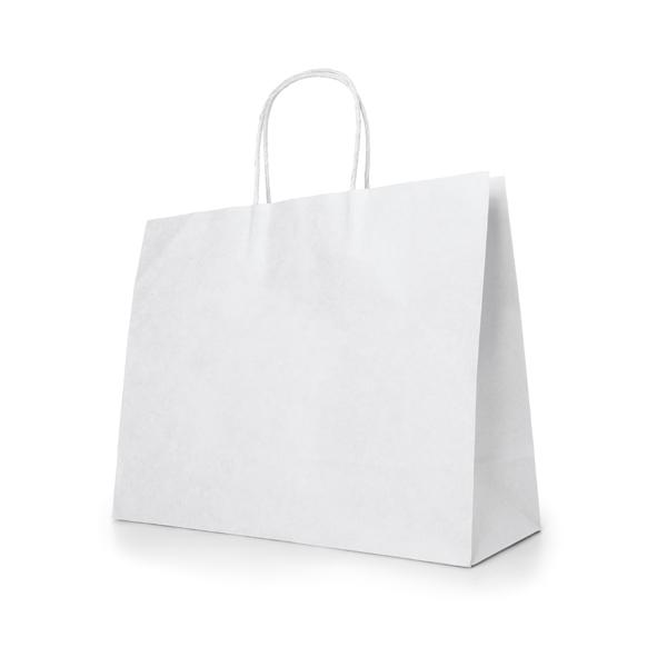 Bolsa. Papel craft: 100 g/m². Asa papel torcido. 400 x 340 x 110 mm