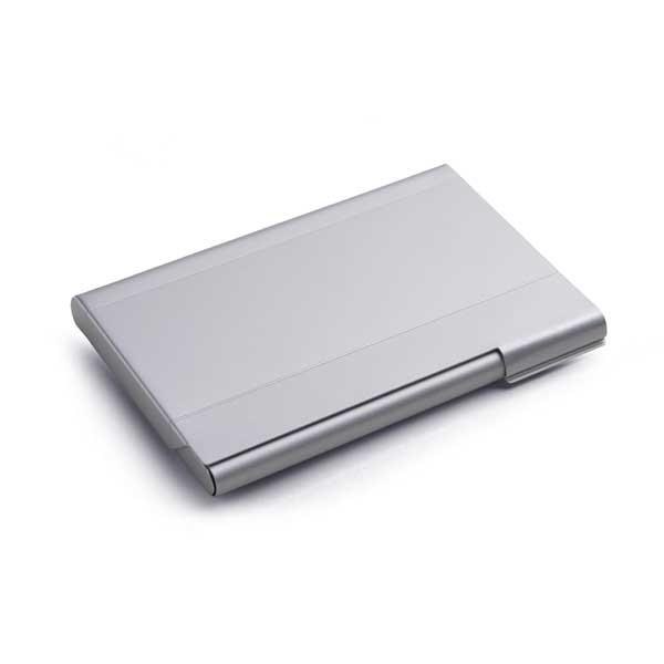 Porta-tarjetas. Aluminio.