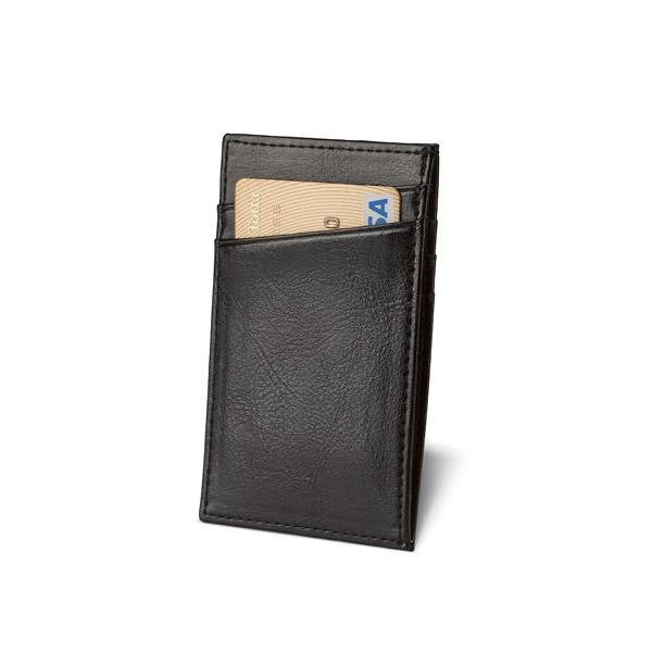 Porta-tarjetas. Piel. Con capacidad para 4 tarjetas