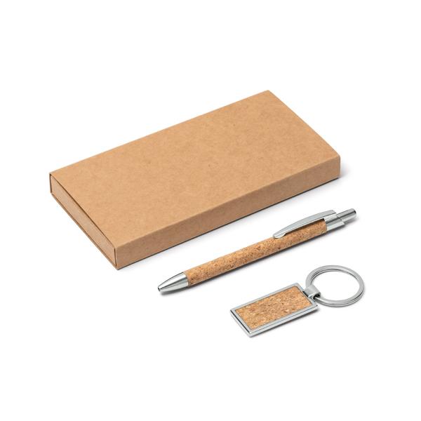 Ensemble stylo et porte-clés.