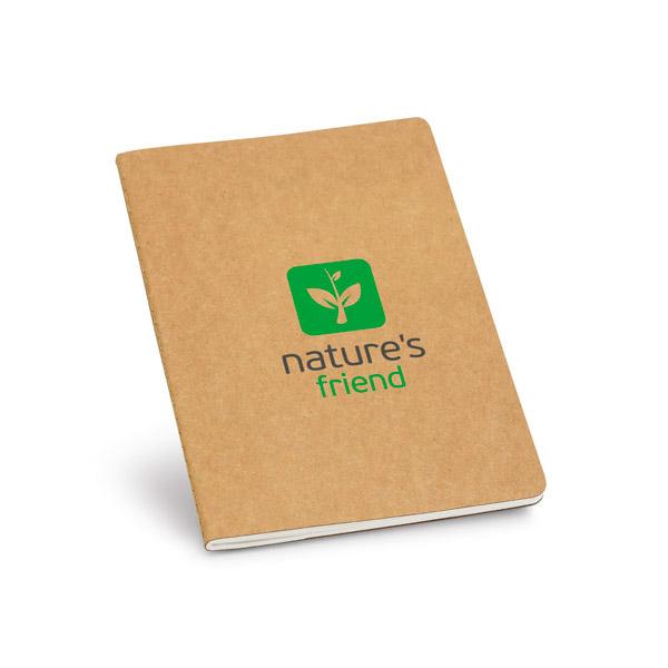 Bloc de notas. Cartón reciclado. Con bolsillo interior