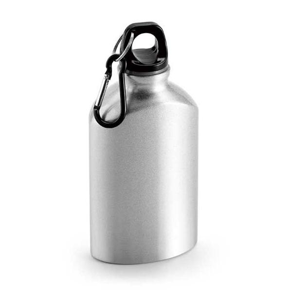 Botella de deporte. Aluminio. Con mosquetón. Capacidad: 350 ml.Botellas y termos,  Deporte,