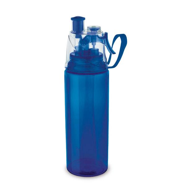 Botella de deporte. Poliestireno y ABS. Con vaporizador. Capacidad: 600 ml.