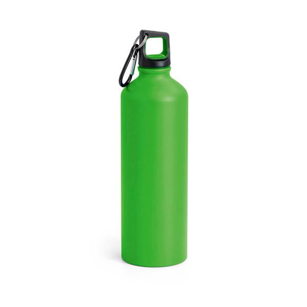 Botella de deporte. Aluminio. Con mosquetón. Capacidad: 750 ml.