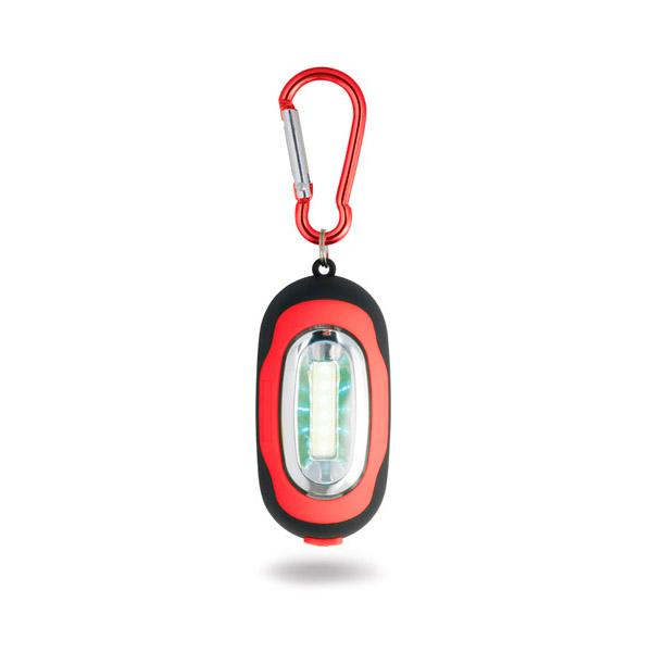 Linterna. ABS. Con LED COB, mosquetón e imán