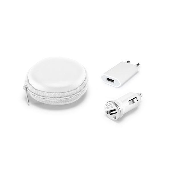 Set chargeur USB.