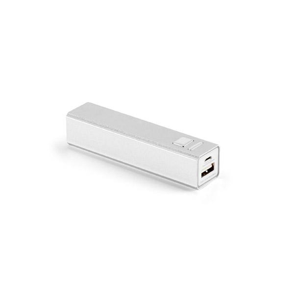 Batería portátil. Aluminio. Batería de litio. Capacidad: 2.200 mAh