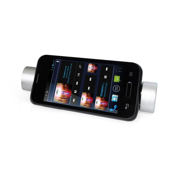 Batería portátil. ABS. Batería de litio. Con altavoz y soporte para teléfono móvil. Capacidad: 3.500 mAh