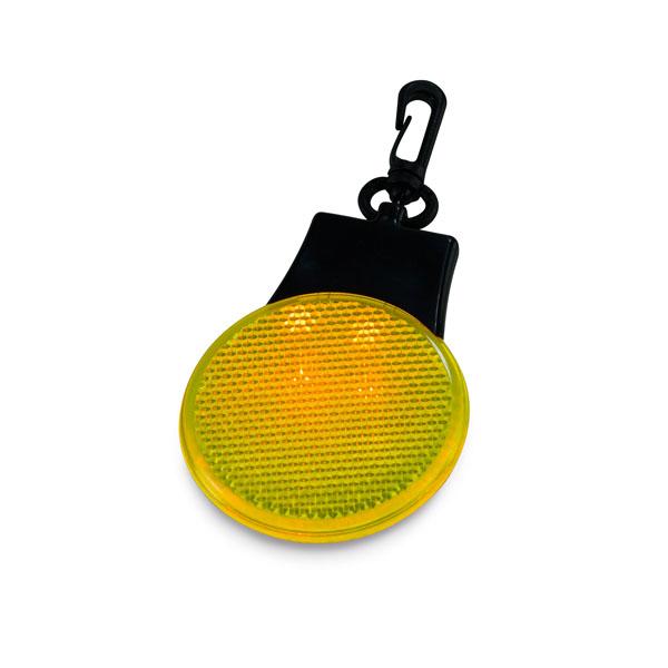 Luz reflectante. Con 3 LEDs, 3 posiciones y mosquetón