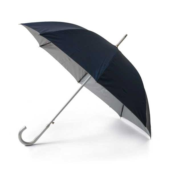Paraguas.Cabo y mango en aluminio. Apertura automática.