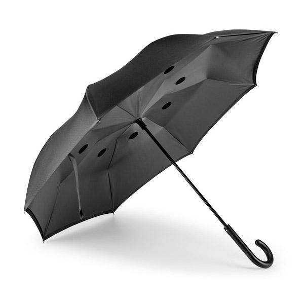 Parapluie inversé.