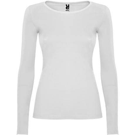 Camisetas semientallada EXTREME WOMAN. Blanco