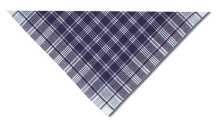 Pañuelo hierbas triangular de cuadros azul