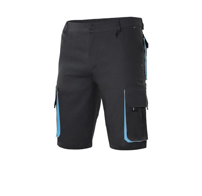 Pantalón corto multibolsillos bicolor