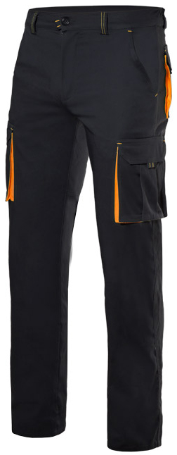 Pantalón bicolor stretch multibolsillos Velilla