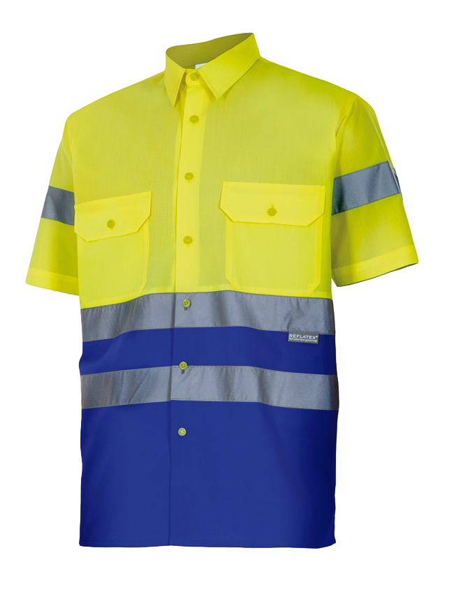 Camisa Alta Visibilidad Bicolor Manga Corta