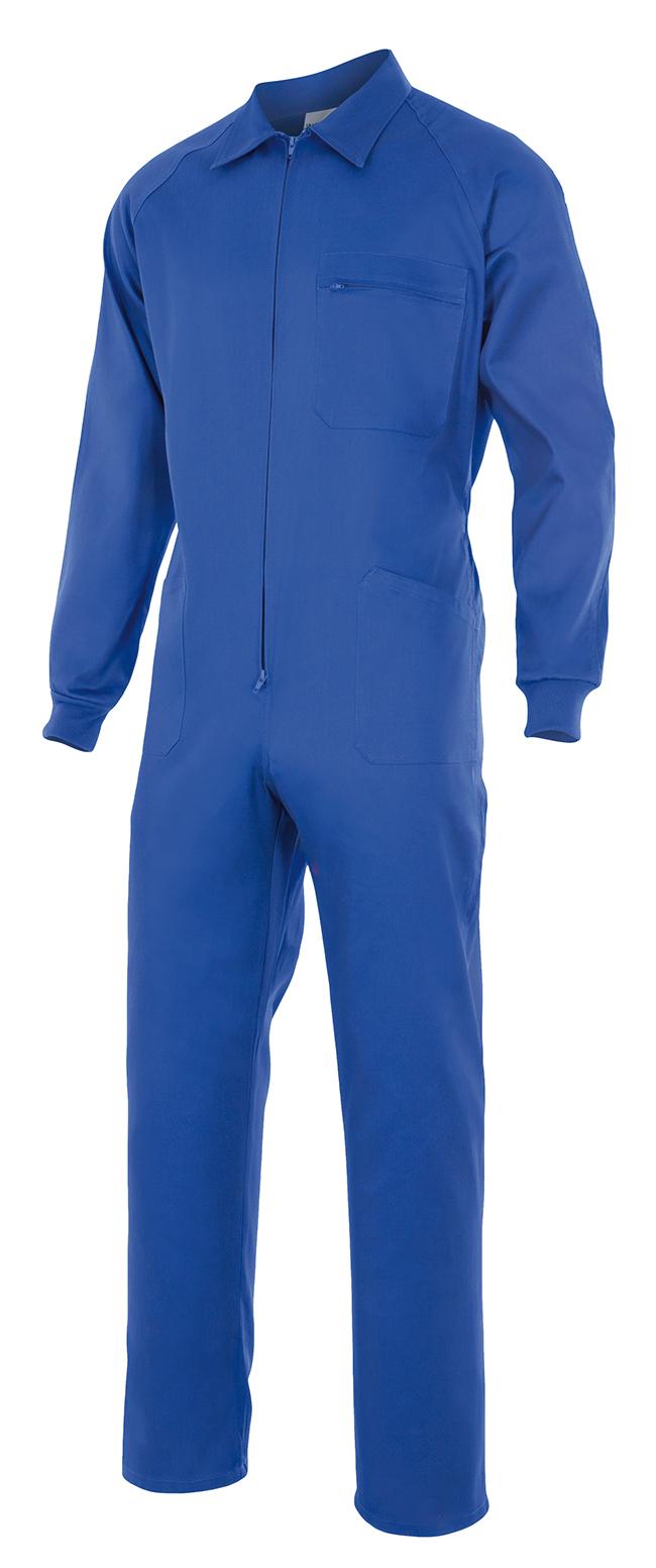 Mono de trabajo azul multibolsillos