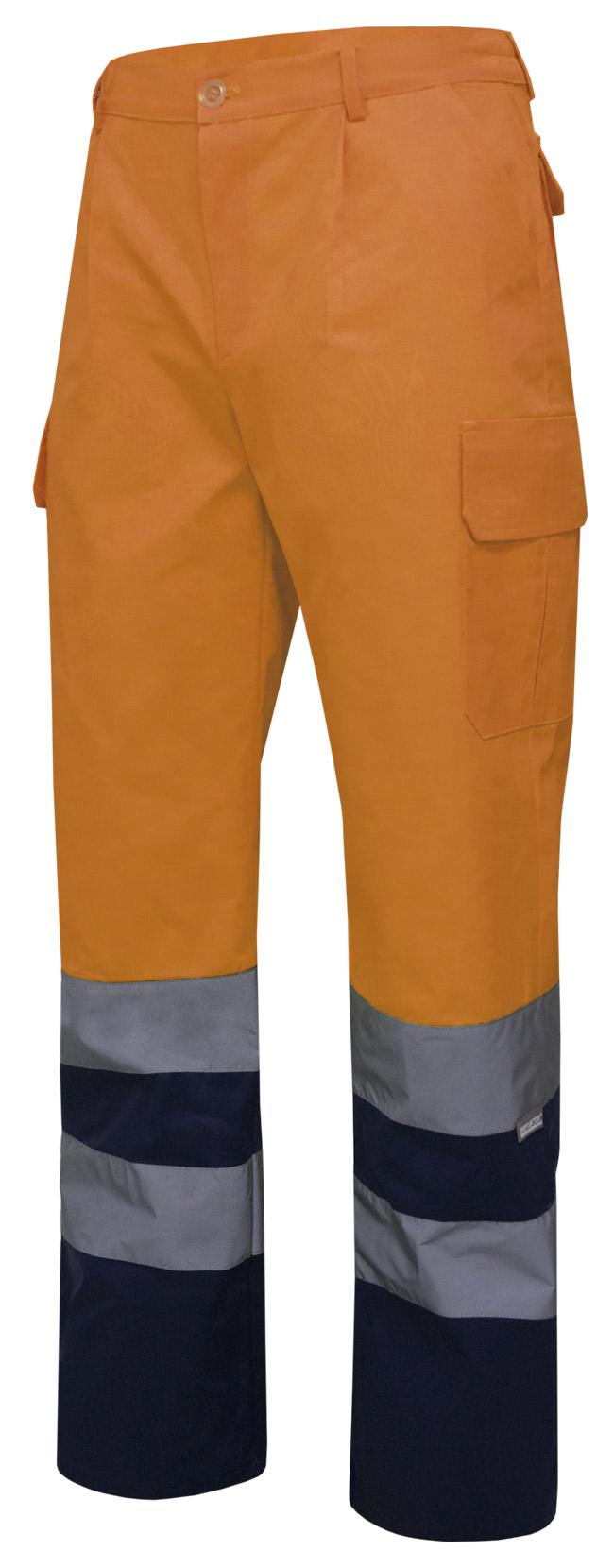 Pantalón de trabajo alta visibilidad bicolor