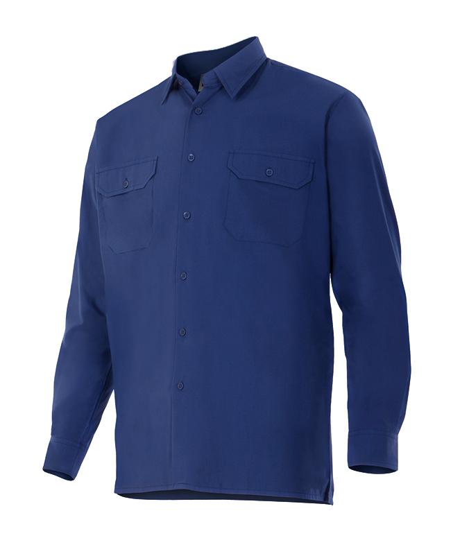 Camisa Velilla de Manga Larga con Dos Bolsillos