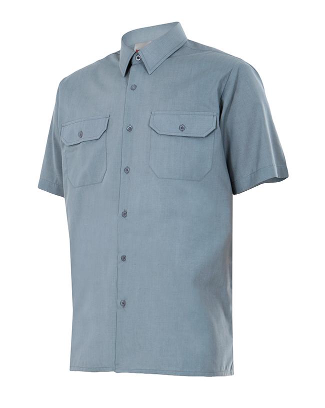 Camisa de trabajo azul manga corta y más colores