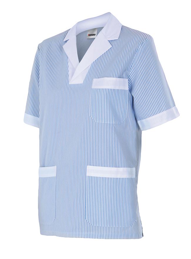Camisola Casaca Velilla Mujer Pijama A Rayas de Manga Corta