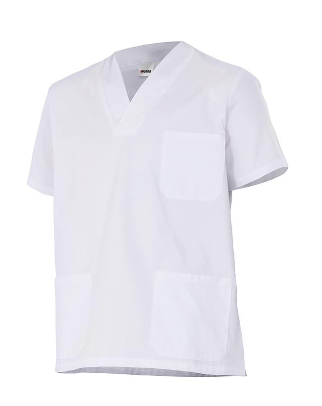 Camisola Casaca Blanca Velilla Pijama de Manga Corta