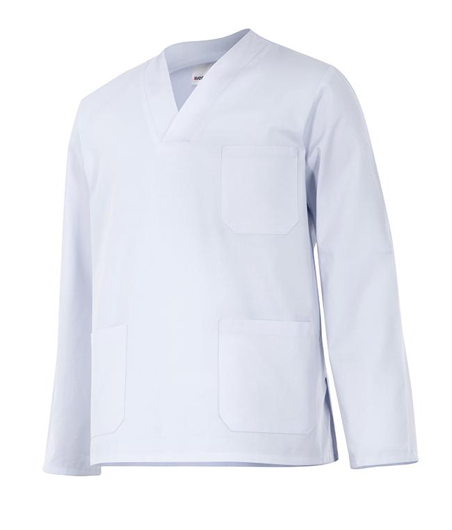 Camisola Blanca Velilla Pijama de Manga Larga
